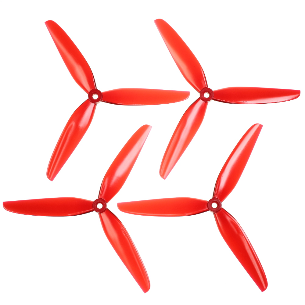 "HQProp Dreiblatt DP 7""x3,5x3 V1S (20,32cm) Durable Propeller Set light red 2CW und 2CCW, Polycarbonat"